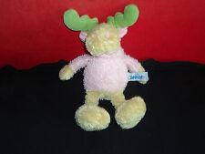 Nici Elch Detlef rosa 20cm weiß Stofftier Plüsch 085 top