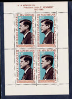 Maurtania 1964 Kennedy Souvenir Sheet #C40a CV $7 MNH FREE Ship after 1st Lot