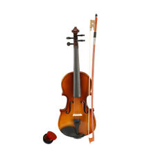 More details for basswood 1/8 acoustic violin case bow rosin for children kids beginner