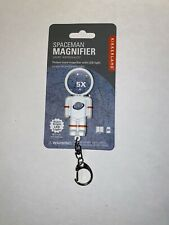 Kikkerland Spaceman Magnifier Led Keychain 5x
