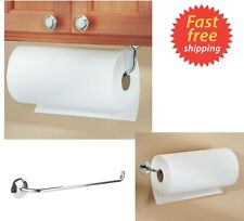 Kitchen Paper Towel Roll Holder Wall Mount Under Cabinet Rod Horizontal Hanger