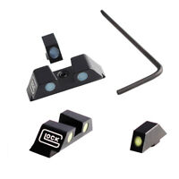 Tactical Green/Blue Glock Night Sights Set For 17 19 22 23 24 26 27 33 35 37 38
