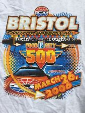 BRISTOL MOTOR SPEEDWAY racin' the way it ought'a be FOOD CITY 500 t shirt sz L