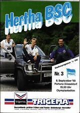 BL 90/91 Hertha BSC Berlin - Fortuna Düsseldorf, 08.09.1990
