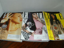ELLE Magazines 2010-2012.  Lot of 11 USA Edition Free shipping.