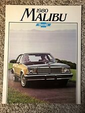 1980 Chevrolet Malibu Classic Original Sales Brochure