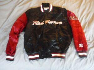 Starter Jacket Scranton Wilkes Barre PA Large Button Front Wind Breaker Red BArr