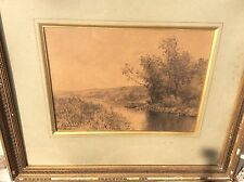 TRES BEAU DESSIN DE E. LESSIEUX Les Bords De La Charente