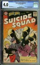 BRAVE AND THE BOLD #25 CGC 4.0 CR/OW PAGES // 1ST APPEARANCE SUICIDE SQUAD 1959