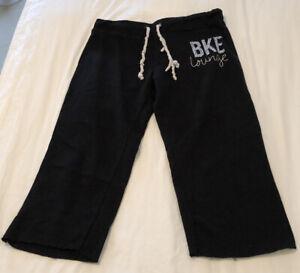 BKE Lounge Women's Capri Sweatpants Black Large