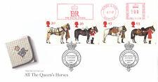 (04697) GB FDC tutte le Regine Cavalli Royal BORCHIE METRO Kings Lynn 8 LUGLIO 1997