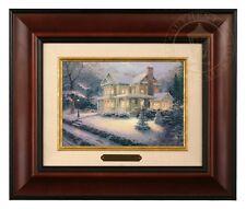 Thomas Kinkade Victorian Christmas III - Brushwork (Burl Frame)