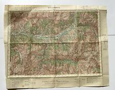 Carte de France au 50.000e BARCELONNETTE -Serv géographique de l'Armée-Type 1922