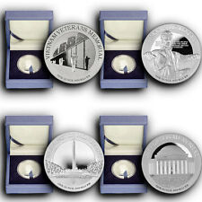 2015 America's National Monuments 4 Coins Set NIUE 1 oz Proof Silver Coins