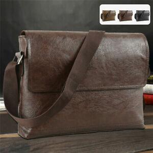 Mens Leather Bags Messenger Bag Briefcase Satchel Shoulder Handbag Cross Body UK
