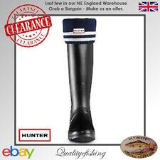 CLEARANCE: Hunter Boot Socks Sports Stripe Navy/Grey Medium UK3-5