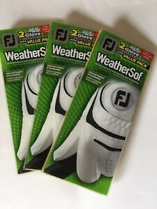 Footjoy Weathersof golf glove 3 double packs (6 gloves) select size....FREE SHIP