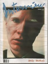 Interview February 1989 Andy Warhol Rare Issue Bruce Weber 091119AME