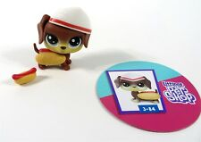 Littlest Pet Shop LPS Series 3 Hungry Pets #3-84 Hotdog Dog Figure NEW