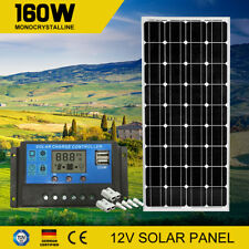 160W 12V Mono Solar Panel Kit Regulator Generator Caravan Battery Charge 160watt