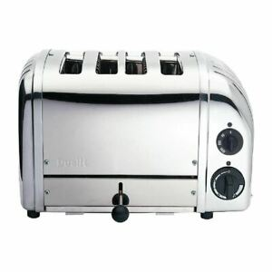 Dualit Bun Toaster 4 Polished 43021 1KW 220x360x210mm Stainless Steel Commercial