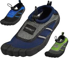 Young Mens Water Shoes Aqua Sock Surf Exercise Pool Beach Swim Runs 1 Size Small