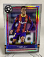 2020-21 Topps Museum Collection UEFA Sergino Dest #48 Barcelona Team USA