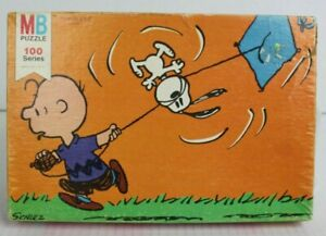 PEANUTS Vtg 108 Pc Jigsaw PUZZLE Charlie Brown Snoopy Fly Kite #4382-2 COMPLETE