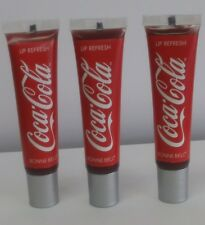 3X - Bonne Bell Coca-Cola Cherry Tinted Lip Gloss # 066 Lip Refresh *Unsealed*