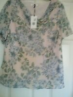 Ladies M&S Indigo collection Layered dressy top tunic  Size 22  brand new tags *