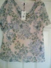 Ladies M&S Indigo collection Layered dressy top tunic  Size 18 waist length BNWT