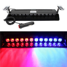 12LED Car Emergency Warning Dash Visor Flash Strobe Light Bar Lamps 12V Red Blue