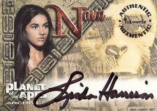 Inkworks Planet of the Apes Archives Linda Harrison / Nova A1 Auto Card
