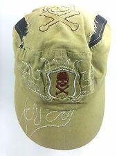 Skull Embroidered Snapback Distressed Trucker Baseball Hat