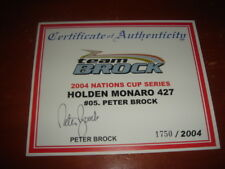 Peter Brock signed Certificate of Authenticity Holden Monaro 427 - 2004