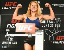Justine Kish Signed 11x14 Photo BAS Beckett COA UFC Fight Night 112 2017 Picture