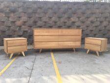 Aus Made American Oak Hardwood Timber Retro Dresser Chest Of Drawers