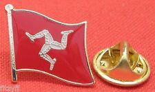 Isle of Man Flag Lapel Hat Cap Tie Pin Badge IOM Brooch Ellan Vannin Mann