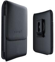 iPhone 6 6s 7 8 Phone Pouch Belt Case w/ Sleeve Swivel Clip Apple Holster Black