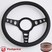 15.5'' Billet Steering Wheels Black Half Wrap Restoration CHEVROLET GMC GTO