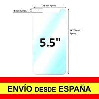"Cristal Templado UNIVERSAL para 5.5 "" PULGADAS Protector Pantalla Vidrio a2123"