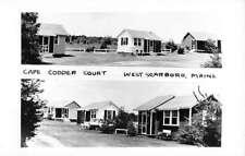 West Scarboro Maine Cape Codder Court Real Photo Antique Postcard K70285