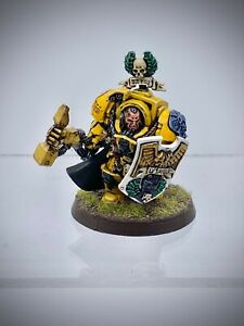 Warhammer 40,000 - Space Marine Imperial Fists Captain Lysander painted