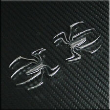 Car Spider(small) 1.5'' Chrome Motorcycle Badge Emblem Sticker 2pcs for ACCORD