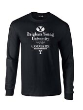 *NEW NCAA BYU Brigham Young Cougars Cotton Long Sleeve Shirt Black Size Small