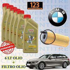 KIT TAGLIANDO BMW SERIE 3 TOURING(F31) 318-325 d - 6 LT OLIO CASTROL 5W30+FILTRO