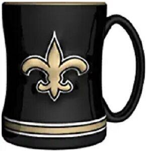 New Orleans Saints 14 oz Team Color Sculpted Logo Relief Coffee Mug  - NEW