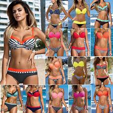 Women Padded Push-up Bikini Set Beach Swimsuit Bathing Suit Swimwear Beachwear E
