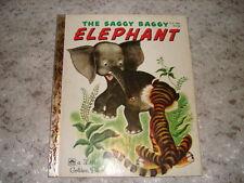 Vintage Children's Little Golden Book The Saggy Baggy Elephant 1974