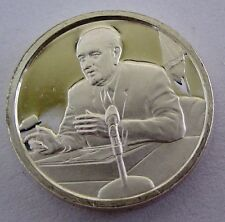 FRANKLIN Mini-Ingot STERLING SILVER 1968 L B JOHNSON WITHDRAWS - UNCIRCULATED